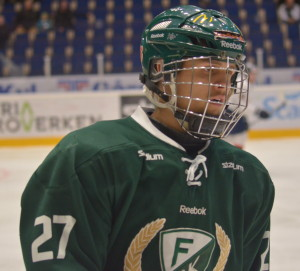 #27, August Gunnarsson, numera dock utan galler. Foto: Robin Angle/fbkbloggen