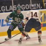Oliver Kylington mot Djurgårdens Tobias Lindberg Foto: Robin Angle/fbkbloggen