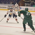 August Gunnarsson, i toppen av lagets poängliga, på väg mot mål. Foto: Robin Angle/fbkbloggen