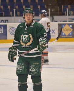 Nils Lidberg i Färjestadströjan. Foto: Robin Angle/fbkbloggen