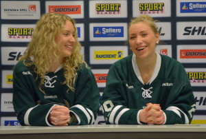 Lagkapten Sara Kask och nyförvärvet Tilda Antonsson Foto: Robin Angle/fbkbloggen