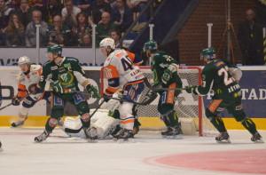 Heroiskt kämpande i spel tre mot fyra i sudden! Foto: Robin Angle/fbkbloggen