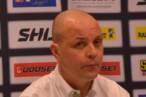 Växjös Sam Hallam och Clas Eriksson på presskonferensen efter semifinal 2 Foto: Robin Angle/fbkbloggen
