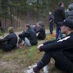 I förgrunden: Joakim Hillding. I bakgrunden förevigar pressen säsongens första träning. Foto: Robin Angle/fbkbloggen