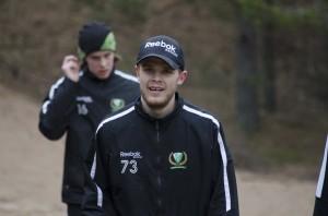 Det är lätt att glömma att rutinerade Anton Grundel  bara är 24 år i och med att han nu påbörjar sin 7:e säsong där han, mer eller mindre på heltid, finns med i A-laget. [Och då bortser jag från en match säsongen 07/08 .] Foto: Robin Angle/fbkbloggen