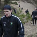 Christoffer Forsberg gör sin första försäsongsträning med A-laget Foto: Robin Angle/fbkbloggen