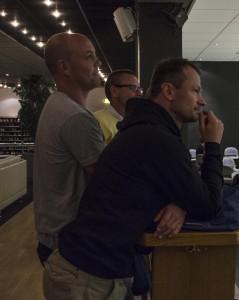 A-lagscoacherna Tommy Samuelsson, Clas Eriksson och Radek Hamr samt målvaktstränaren Jonathan Höjd kommer att samarbeta med juniortränarna för att skapa en röd tråd genom föreningens verksamhet. Foto: Marie Angle/fbkbloggen