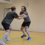 Byström vs den slutliga vinnaren Nygård i lättviktsklassen.