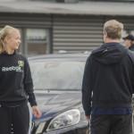Coacherna: Praktikanten Emma Olsson och fystränare Peter Jasbetz