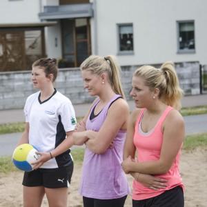 Alexandra Skoog, Julia Pettersson och Frida Andersson från Färjestad dam. Foto: Robin Angle/fbkbloggen