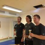 Vinnarna är korade: Joachim Rohdin (tungvikt), Joakim Nygård (lättvikt) och Joakim Hillding (mellanvikt)