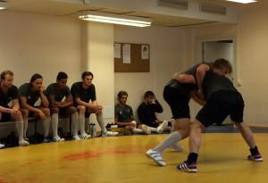 Daniel Gunnarsson och Niklas Arell drabbar samman i tungviktsklassen. Foto: Marie Angle/fbkbloggen