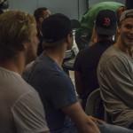 """Rohdin, """"Foppa"""" och Gunnarsson. De nya killarna ser ut att ha kommit in bra i truppen! Foto: Marie Angle/fbkbloggen"""