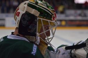 Fredrik Pettersson-Wentzel gör en bra match mellan stolparna Foto: Robin Angle/fbkbloggen