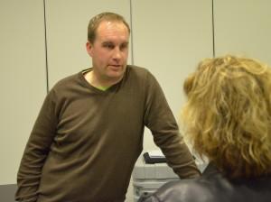 FBK Dams huvudtränare, Fredrik Wilhelmsson i våras när satsningen offentliggjordes Foto: Robin Angle/fkbloggen