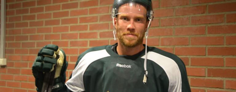 Linus Persson ordnade en pinne åt laget. Har börjat komma mer och mer efter en tuff start med skavsårsproblem Foto: Joakim Angle/fbkbloggen