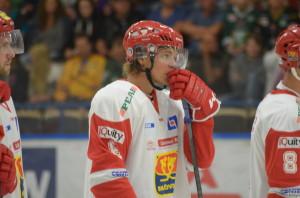 En sammanbiten Anton Karlsson innan nedsläpp. Lite nervöst var det, erkänner han efteråt. Foto: Joakim Angle/fbkbloggen