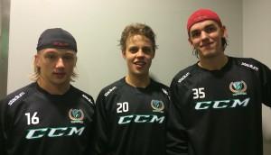 Rasmus Asplund, Joel Eriksson Ek och målvakten Adam Werner är några av lagets bärande spelare - men lagets styrka är dess bredd! Foto: Marie Angle/fbkbloggen