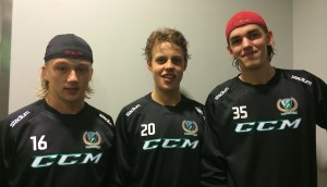 Rasmus Asplund, Joel Eriksson Ek och Adam Werner  Foto: Marie Angle/fbkbloggen