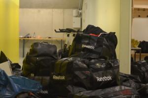 Trunkarna packas inför avfärd... Foto: Joakim Angle/fbkbloggen