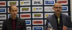 Forsberg och Samuelsson på presskonferensen efter matchen Foto: Robin Angle/fbkbloggen