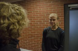 Lagets yngste spelare, Lisa Berg, fyllde 14 år under lördagen. Foto: Robin Angle/fbkbloggen