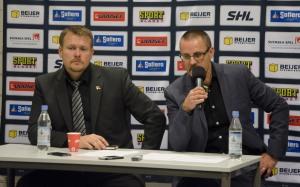 Presskonferens efter matchen med Luleås tränare Joakim Fagervall och Tommy Samuelsson Foto: Robin Angle/fbkbloggen
