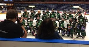 Det historiska laget förevigas efter matchen Foto: Marie Angle/fbkbloggen