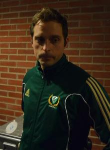 Mattias Hell, ansvarig för Färjestads Medical Team Foto: Marie Angle/fbkbloggen