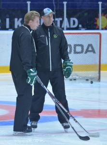 Tränarna Jan Labraaten och Fredrik Wilhelmsson Foto: Joakim Angle/fbkbloggen