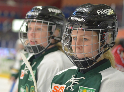 Rutinerade kapten Kask och senaste nyförvärvet, den lovande 15-åringen Hanna Johnsson, bildar backpar.