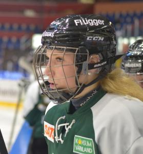 Tilda Antonsson på isen Foto: Joakim Angle/fbkbloggen