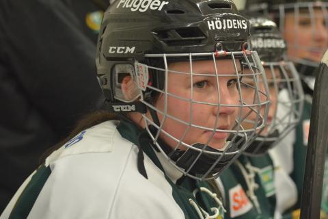 Alexandra Skoog, en av två tremålsskyttar i Färjestad i helgen Foto: Joakim Angle/fbkbloggen
