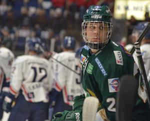 Joel Eriksson-Ek spelade från start, och noterades för ett riktigt viljestarkt assist! Foto: Joakim Angle/fbkbloggen