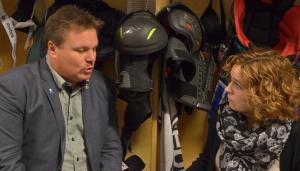 Yours truly och Carlsson i omklädningsrummet efter fredagens match Foto: Joakim Angle/fbkbloggen