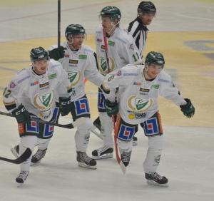 Byström och hans lagkamrater efter hans mål Foto: Joakim Angle/fbkbloggen