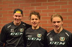 Tre juniorer som redan tagit steget upp till A-laget: Victor Ejdsell, Joel Eriksson Ek och Rasmus Asplund Foto: Joakim Angle/fbkbloggen
