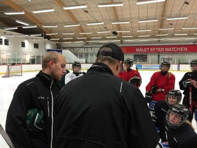 Assisterande tränaren Anton Karlsson (till vänster) hittar ni en separat intervju med här på bloggen under helgen. Foto: Marie Angle/fbkbloggen