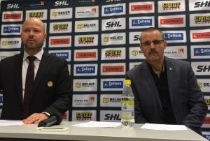 Tommy x 2 - Jonsson och Samuelsson - på presskonferensen efter matchen. Foto: Marie Angle/fbkbloggen