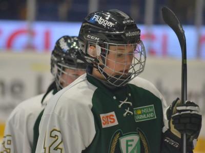 Jonna Andersson gjorde det viktiga 4-1-målet efter gästernas reducering till 3-1 i inledningen av den tredje perioden. Foto: Joakim Angle/fbkbloggen