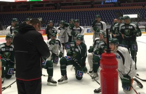 Jesper Nordin och August Gunnarsson på A-lagets träning 19/12 2014 Foto: Marie Angle/fbkbloggen