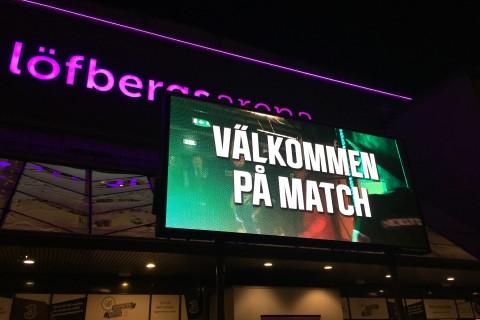 Mot Löfbergs Arena! Foto: Marie Angle/fbkbloggen