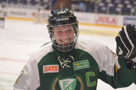 Sara Kask gjorde två mål i matchen.