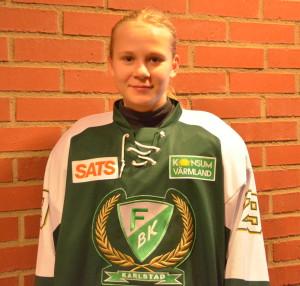 Lisa Berg klev upp från backpositionen och gjorde två mål och två assist! Foto: Joakim Angle/fbkbloggen