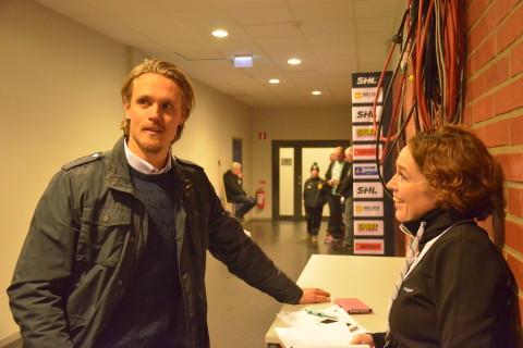 Magnus Nygren på tillfälligt besök hemma i Karlstad och Löfbergs  Arena.  Foto: Joakim Angle/fbkbloggen