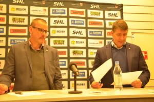 Tommy Samuelsson och Hans Särkijärvi på presskonferensen efter matchen Foto: Joakim Angle/fbkbloggen