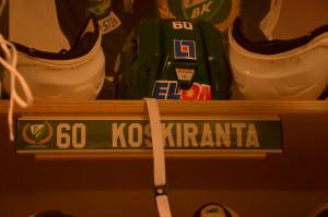 #60 Tero Koskiranta är på plats i Färjestad och Löfbergs Arena Foto: Joakim Angle/fbkbloggen