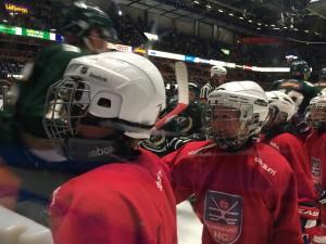 Vem vet - var det kanske någon eller några av nästa årtiondes härförare i A-laget vi såg på isen idag? Foto: Marie Angle/fbkbloggen