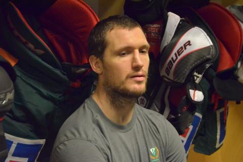 Ole-Kristian Tollefsen hymlar inte med sin besvikelse efter förlusten mot HV71 Foto: Joakim Angle/fbkbloggen