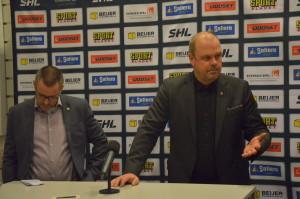 Tommy och Perra på presskonferensen efter matchen Foto: Joakim Angle/fbkbloggen